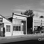 Historic Niles District In California Near Fremont . Main Street . Niles Boulevard . 7d10676  . Bw Art Print by Wingsdomain Art and Photography