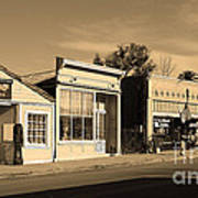 Historic Niles District In California Near Fremont . Main Street . Niles Boulevard . 7d10676 . Sepia Art Print by Wingsdomain Art and Photography
