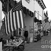 Historic Niles District In California Near Fremont . Main Street . Niles Boulevard . 7d10692 . Bw Print by Wingsdomain Art and Photography
