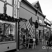 Historic Niles District In California Near Fremont . Main Street . Niles Boulevard . 7d10701 . Bw Art Print by Wingsdomain Art and Photography