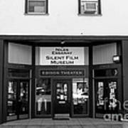 Historic Niles District In California Near Fremont . Niles Essanay Silent Film Museum . 7d10683 Bw Art Print