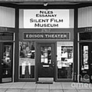 Historic Niles District In California Near Fremont . Niles Essanay Silent Film Museum . 7d10684 Bw Art Print