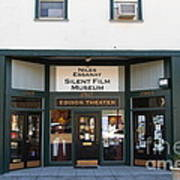 Historic Niles District In California Near Fremont . Niles Essanay Silent Film Museum.edison Theater Art Print