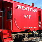 Historic Niles District In California Near Fremont . Western Pacific Caboose Train . 7d10627 Art Print