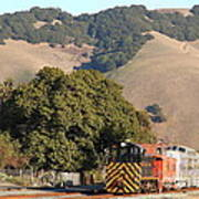 Historic Niles Trains In California . Old Southern Pacific Locomotive And Sante Fe Caboose . 7d10817 Art Print by Wingsdomain Art and Photography