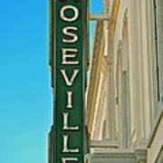 Historic Roseville California Art Print
