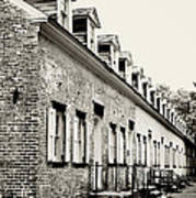Historic Row Homes Allaire Village Art Print
