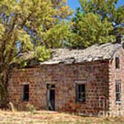 Historic Ruined Brick Building In Rural Farming Community - Utah Art Print