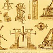 Historical Astronomy Instruments Art Print