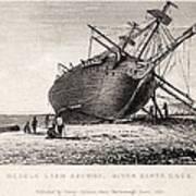Hms Beagle Ship Laid Up Darwin's Voyage Art Print by Paul D Stewart