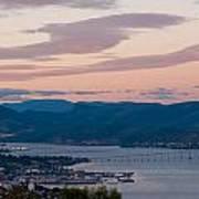 Hobart Harbour During Sunset Art Print