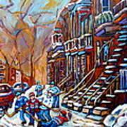 Hockey Art Montreal Streets Art Print