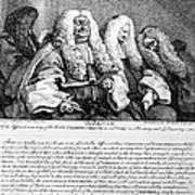 Hogarth: Judges, 1758 Art Print