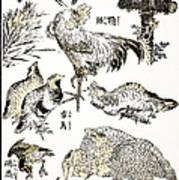 Hokusai: Birds Art Print