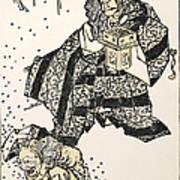 Hokusai: Setsubun, 1816 Art Print