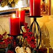 Holiday Candles Hcp Art Print