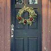 Holiday Door Art Print