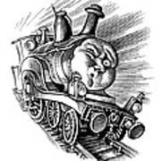 Holiday Train, Conceptual Artwork Art Print by Bill Sanderson