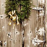 Holiday Wreath On The Farm Art Print