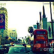 Hollywood Boulevard In La Art Print