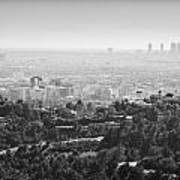 Hollywood From Above Art Print