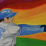 Home Run Swing Baseball Batter Art Print