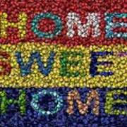 Home Sweet Home Bottle Cap Mosaic  Print by Paul Van Scott
