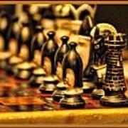 Homemade Chess Art Print