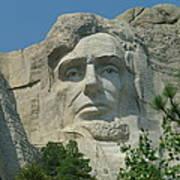 Honest Abe In Stone Art Print