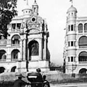 Hong Kong - Monument To Queen Victoria - C 1906 Art Print