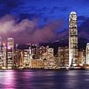 Hong Kong At Night Art Print