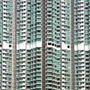 Hong Kong Residential Building Art Print