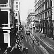 Hong Kong Vintage Street Scene - C 1913 Art Print