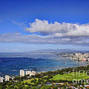 Honolulu From Diamond Head Art Print