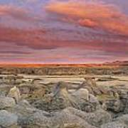Hoodoos, Milk River Badlands, Writing Art Print