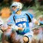 College Lacrosse Midfielder Art Print
