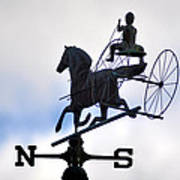 Horse And Buggy Weather Vane Art Print
