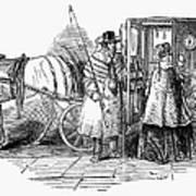 Horse Carriage, 1847 Art Print