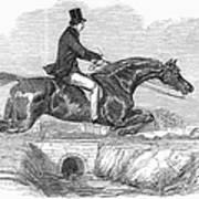Horse-jumping, 1852 Art Print
