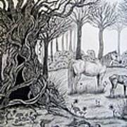 Horse Meadow Art Print
