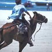 Horse Race In Brazil Art Print