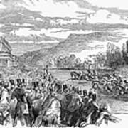 Horse Racing, 1850 Art Print