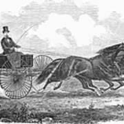Horse Racing, 1862 Art Print