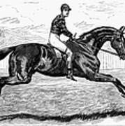 Horse Racing, 1880s Art Print