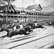 Horse Racing, 1889 Art Print