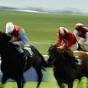Horse Racing, Ireland Jockeys Racing Art Print