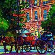 Horsedrawn Carriage Art Print
