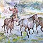 Horsemen Art Print