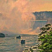 Horseshoe Falls Canadian Niagara Falls Art Print