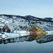 Horsetooth Reflections Art Print by Julie Magers Soulen